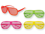 S1620 – 12x neon slotted glasses